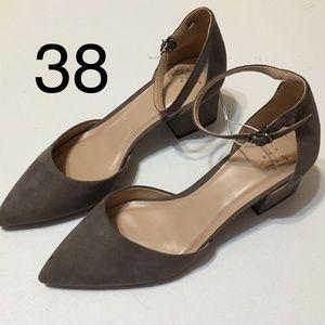 womens natalia miscrosude pointed toe block heeled